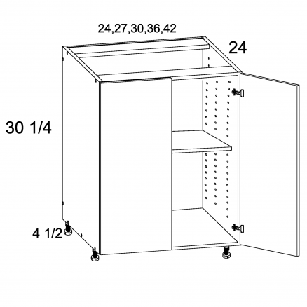 TGW-B24FH - Full Height Double Door Bases - 24 inch