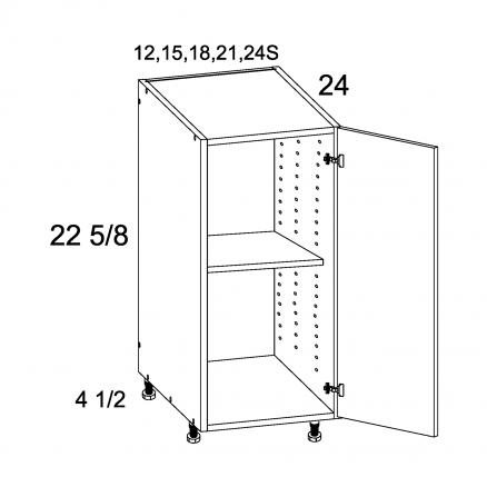 TDW-DDO12 - One Door Desk Base - 12 inch