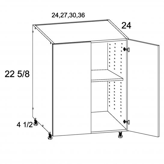 TDW-DDO24 - Two Door Desk Base - 24 inch