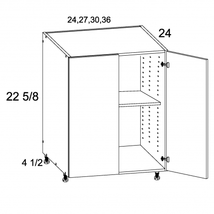 TDW-DDO30 - Two Door Desk Base - 30 inch