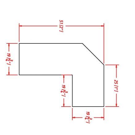 TD-ALRM - Molding-Angle Light Rail - 96 inch