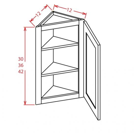 AW1242 Angle Wall Cabinet 42 inch Tacoma White