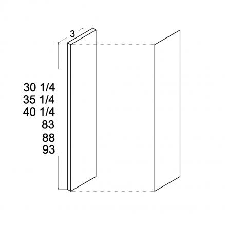 "ROS-OF330 - Fillers - 3"" Overlay Filler - 3 inch"