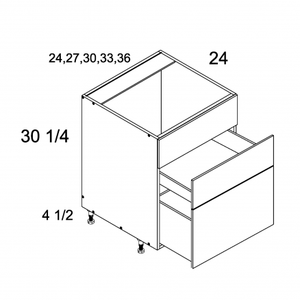 ROS-RB3DB36 - Two Drawer with False Front Range Base - 36 inch