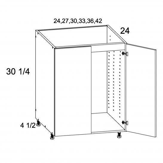 TGW-SB24FH - Full Height Two Door Sink Base - 24 inch