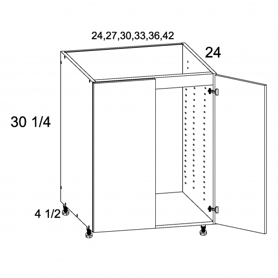 TGW-SB27FH - Full Height Two Door Sink Base - 27 inch