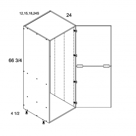 TWP-T1872 - Tall Open Utility with Two Door - 18 inch