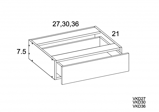 TWP-VKD27 - Vanity Knee Drawer- 27 inch