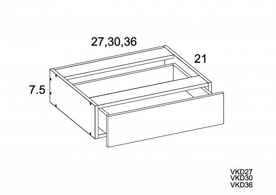 PGW-VKD27 - Vanity Knee Drawer- 27 inch