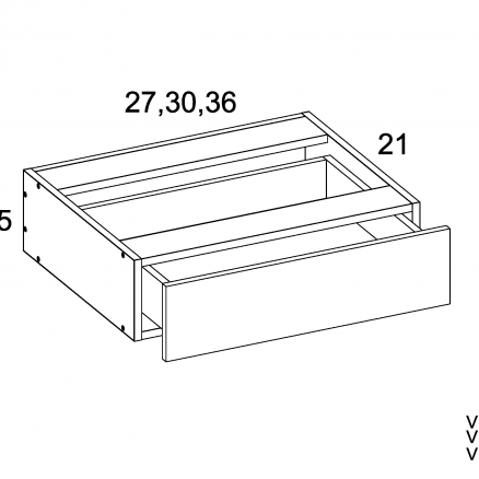 TDW-VKD27 - Vanity Knee Drawer- 27 inch