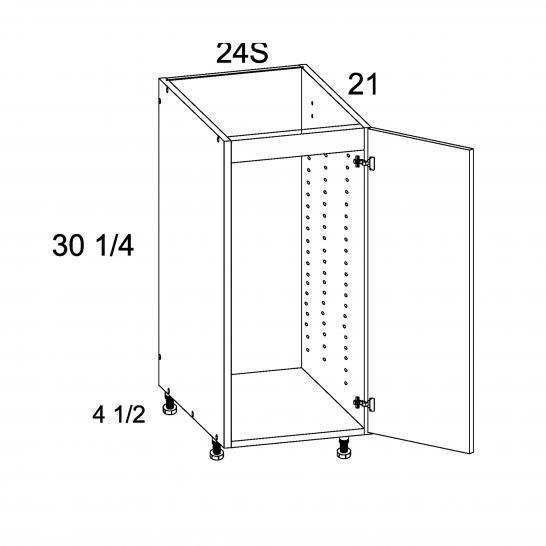 TDW-VSB24SFH - Vanity Sink Base Full Height Single Door Vanity Base - 24 inch