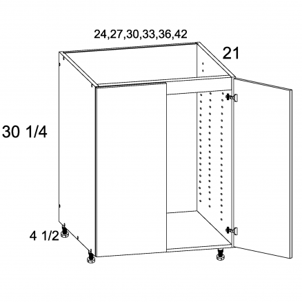 PGW-VSB33FH - Full Height Two Door Vanity Base - 33 inch