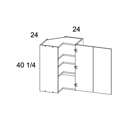 """TDW-WER2440 - 40 1/4"""" H Easy Reach Corner Wall Cabinets - 24 inch"""