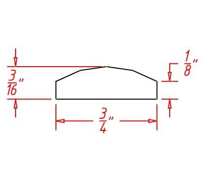 TW-BAM - Molding-Batten Molding - 96 inch