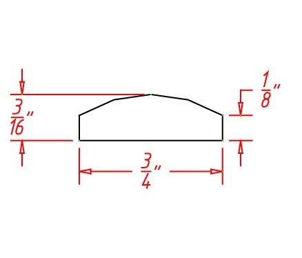 YC-BAM - Molding-Batten Molding - 96 inch