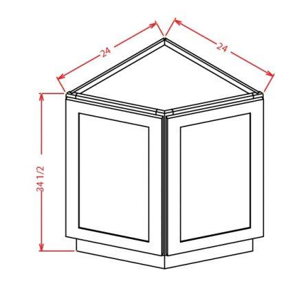 TW-BEC24 - Base End Cabinet - 24 inch