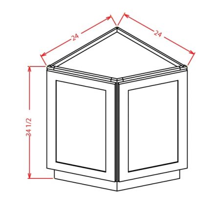 YW-BEC24 - Base End Cabinet - 24 inch