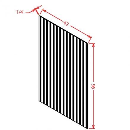 TW-BBFPV4296 - Panel-Beaded Furniture Panel Veneer - 96 inch