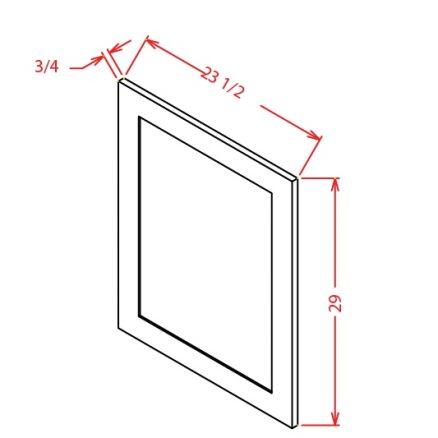 SE-BDEP - Panel-Base Decorative End Panel - 23.5 inch