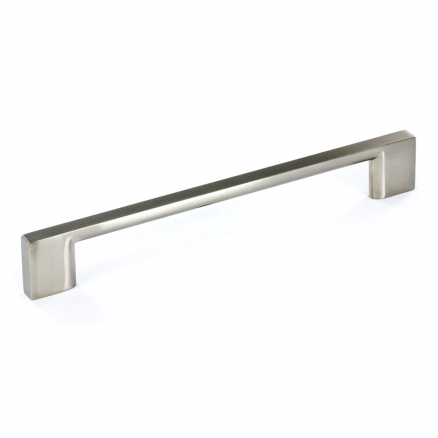 "Pull - Contemporary Block Bar - 7"" - Brushed Nickel"