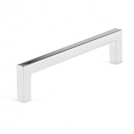 "Pull - Contemporary Right Angle - 5"" - Polished Nickel"