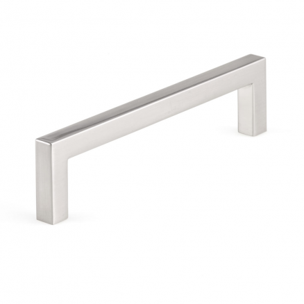 """Pull - Contemporary Right Angle - 5"""" - Brushed Nickel"""
