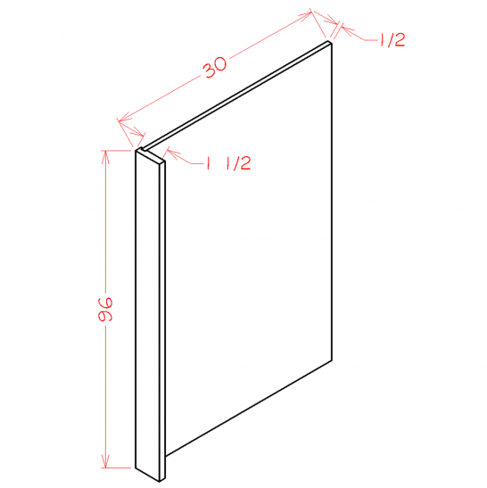 TD-REPV3096 - Panel-Refrigerator End Panel - 1.5 inch