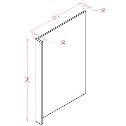YC-REPV3096 - Panel-Refrigerator End Panel - 1.5 inch