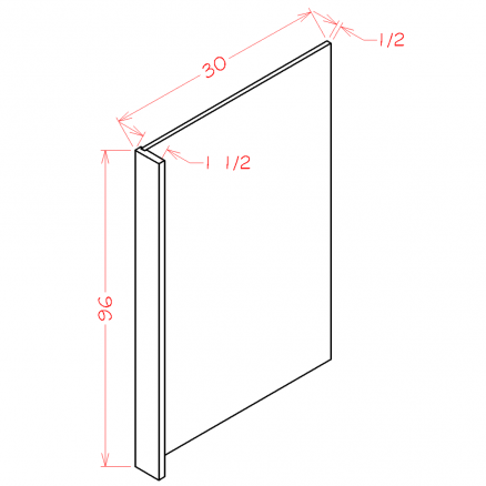 SW-REPV3096 - Panel-Refrigerator End Panel - 1.5 inch