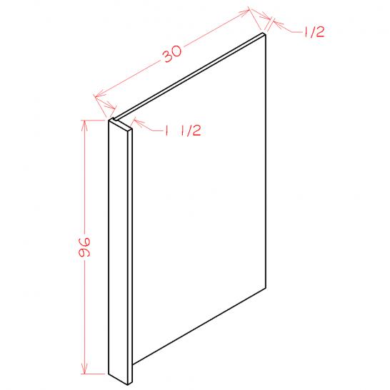 YW-REPV3096 - Panel-Refrigerator End Panel - 1.5 inch