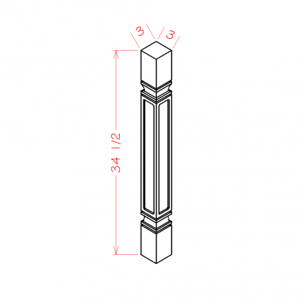 SC-SQDL - Decorative Legs - 3 inch