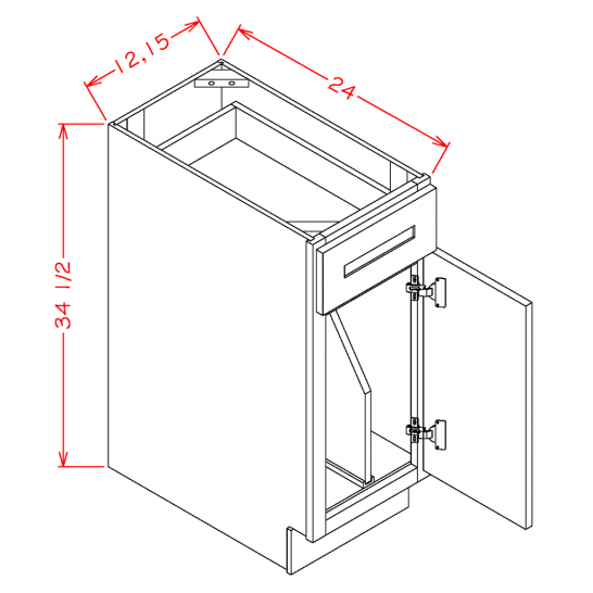 TW-B12TD - Tray Divider Bases