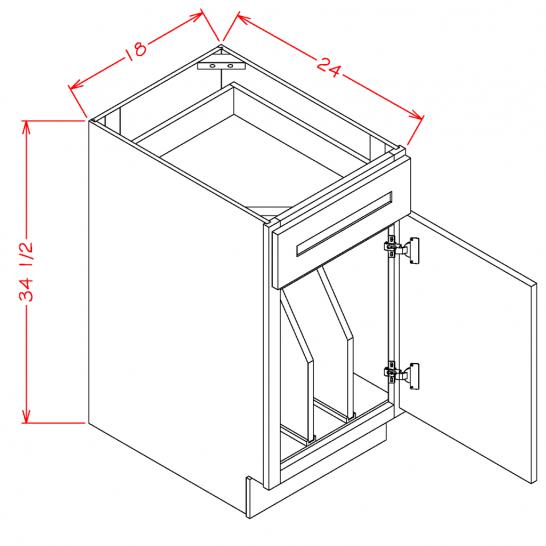 TW-B18TD - Tray Divider Bases