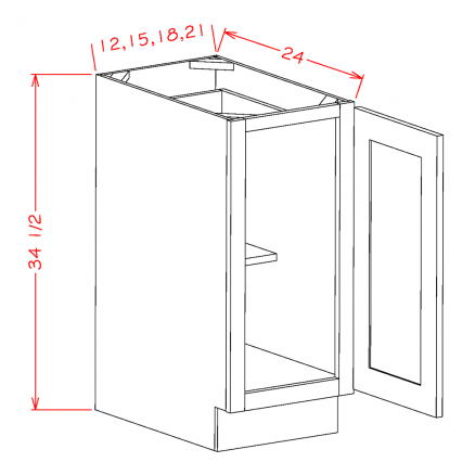 YC-B18FH - Single Full Height Door Bases