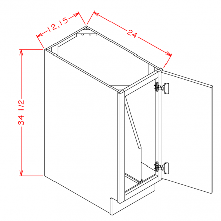 TW-B15FHTD - Full Height Tray Divider Bases