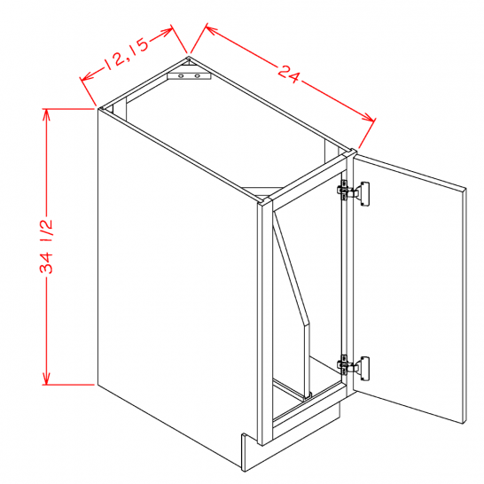 SC-B15FHTD - Full Height Tray Divider Bases