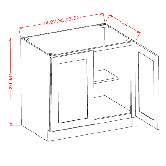 YW-B36FH - Double Full Height Door Bases