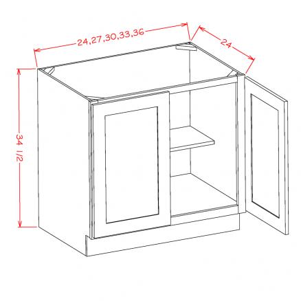 TW-B24FH - Double Full Height Door Bases