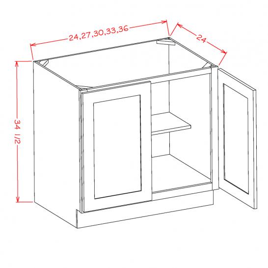 YC-B27FH - Double Full Height Door Bases