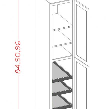 CS-U1896244RS - Double Door Rollout Utility - 18 inch