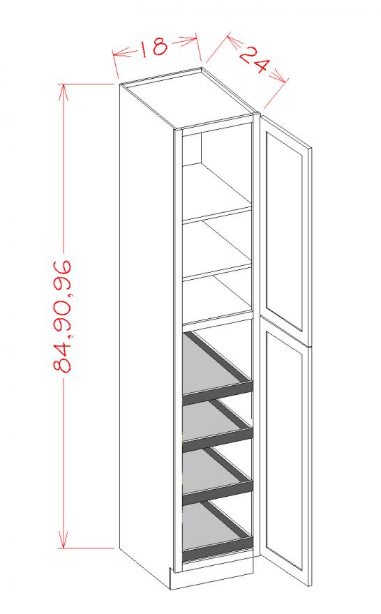 TD-U1896244RS - Double Door Rollout Utility