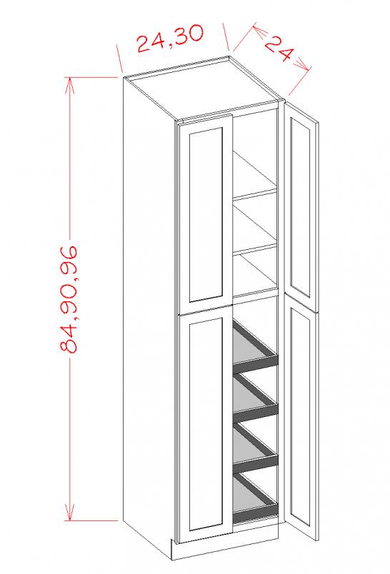 SC-U2484244RS - Four Door Rollout Utility