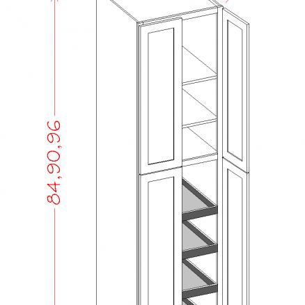 SE-U3096244RS - Four Door Rollout Utility