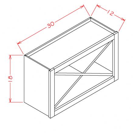 White-WXR3018 - Wall X Rack Cabinet - 30 inch
