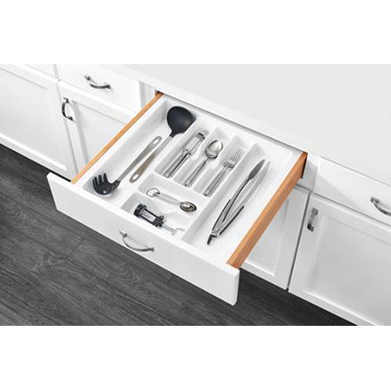 "CT-4W-52 - Polymer Cut-To-Size Cutlery Organizer Drawer Insert (18-5/8 to 21-7/8"")"