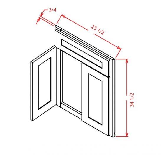 SG-DCSF42 - Sink Base - Diagonal Sink Front - 26.25 inch