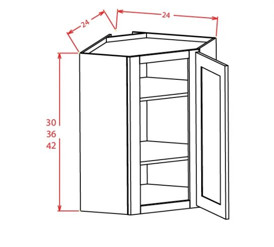 TW-DCW2430GD - Diagonal Corner Wall Cabinets - 24 inch