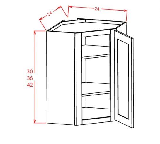 YW-DCW2742GD - Diagonal Corner Wall Cabinets - 27 inch
