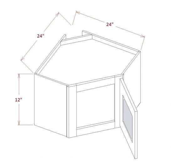 SE-DCW2712GD - Diagonal Corner Stacker Wall Cabinets - 27 inch