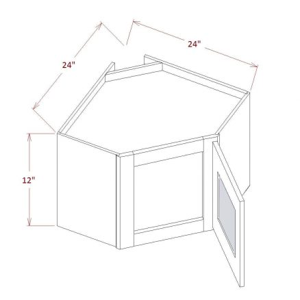 SE-DCW2412GD - Diagonal Corner Stacker Wall Cabinets - 24 inch